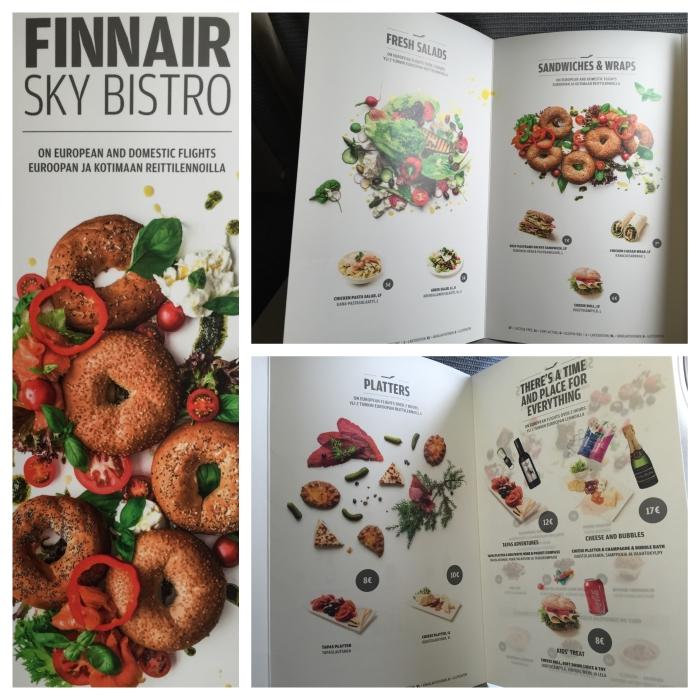 Finnair menu