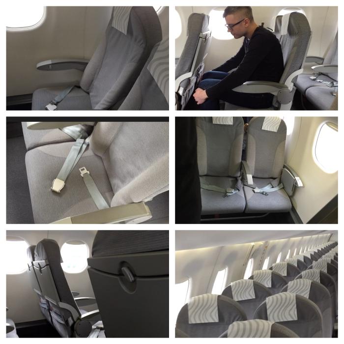 Seats in Finnair's Embraer E-190