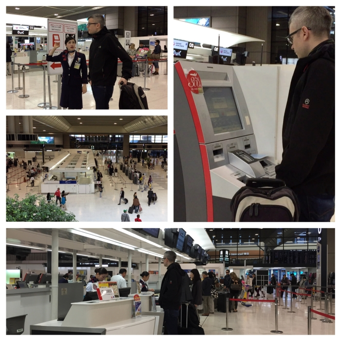 Narita Airport check-in